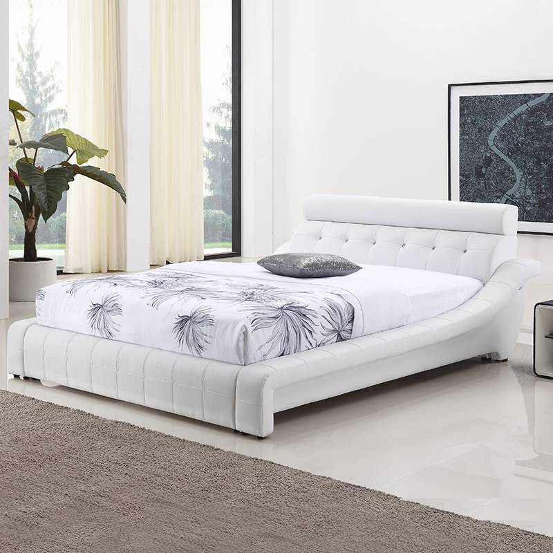 Modern soft leather bed PU PVC bed G966#