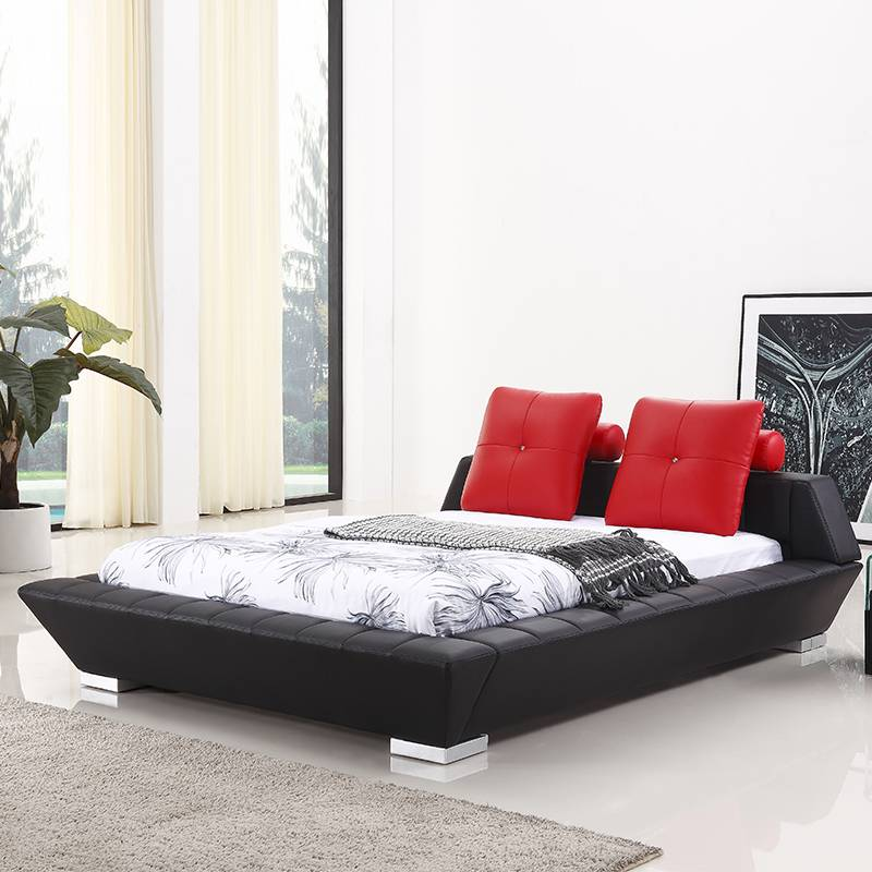 Unique designs hot sale furniture leather bed G969#