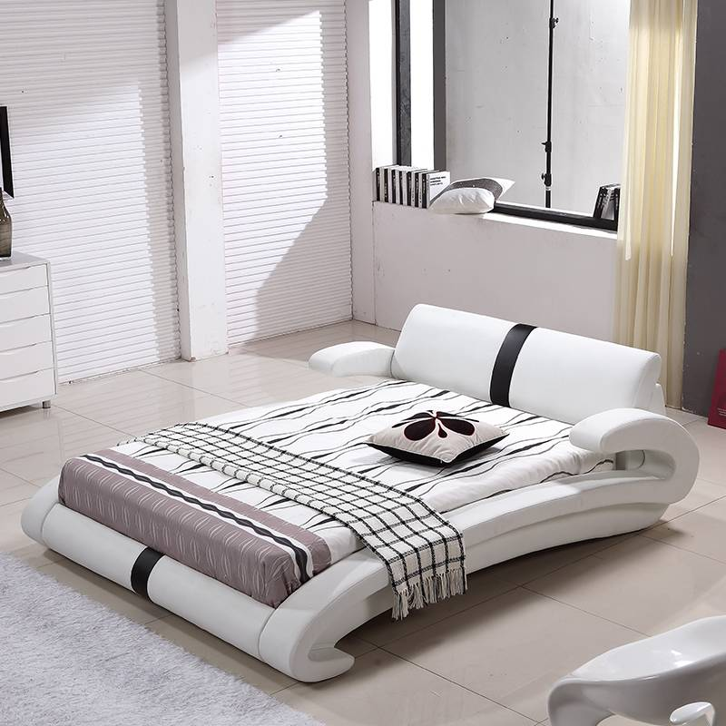 Modern furniture designs queen size rustic wooden bed G1023