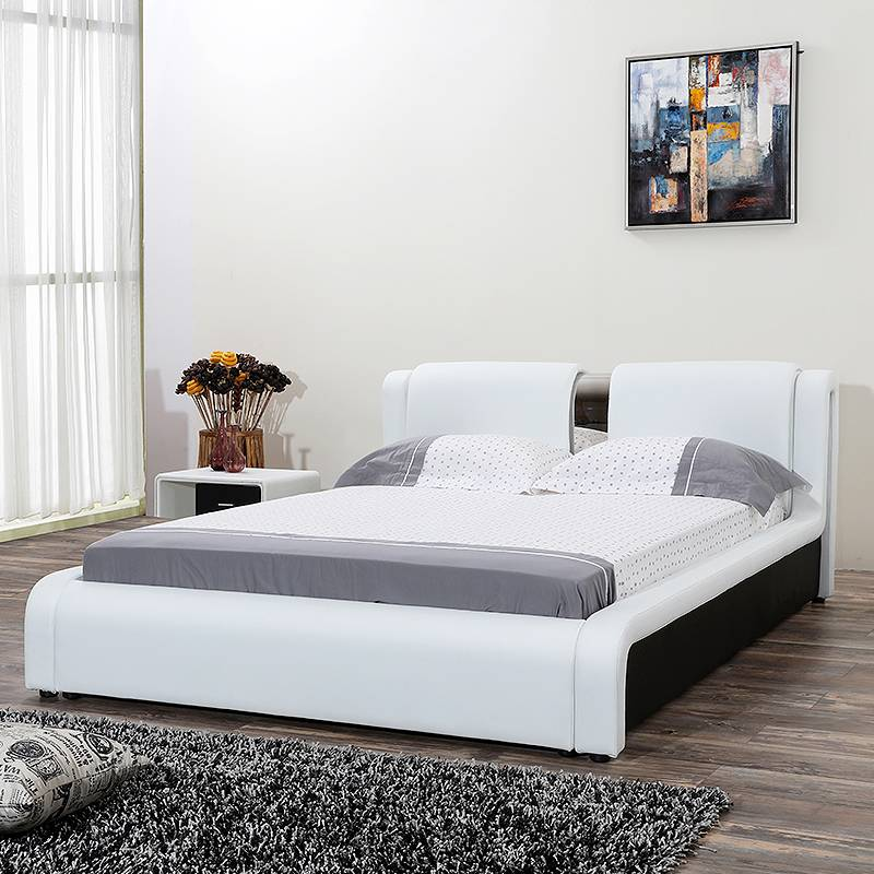 Modern simplicity leather bed G1193#