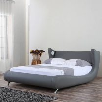 Modern simplicity leather bed G1307#