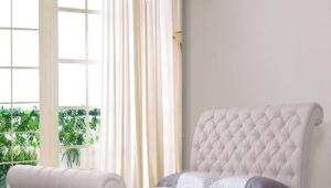 Retro fabric cover bed G1308#