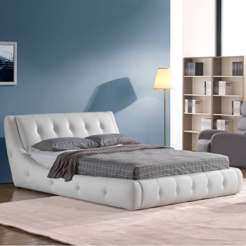 Classical button leather soft bed G1895#