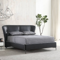 Modern and concise leather soft bed 174#