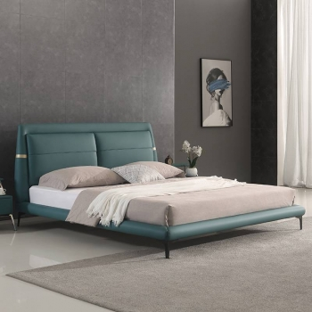 Fashion green wear-resistant concealed leather bed F118#
