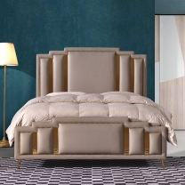 Copper nail fashion double bed G1886#