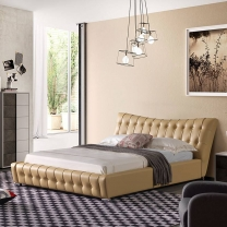 Classical button leather soft bed G1887#