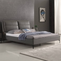 Simple and stylish leather bed and lattice back leather bed F138#